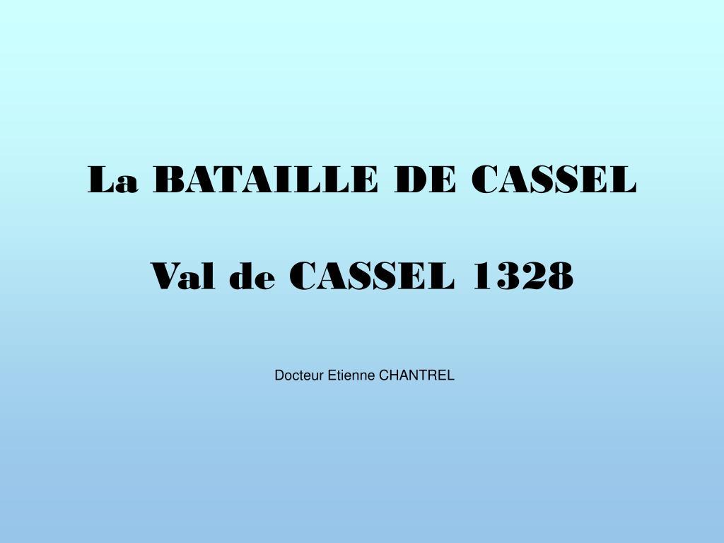 la bataille de cassel val de cassel 1328 l.