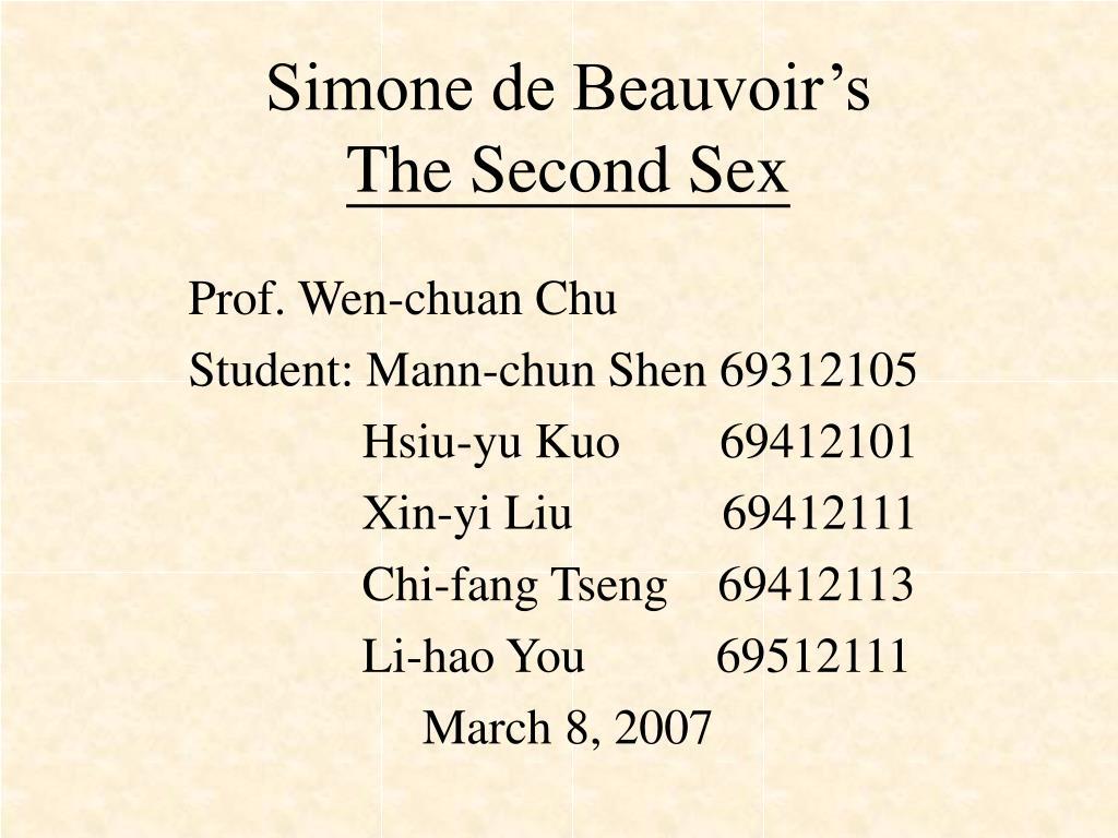 simone de beauvoir s the second sex l.
