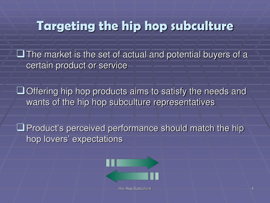 Targeting the hip hop subculture