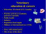 veterinary education careers