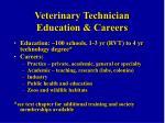 veterinary technician education careers