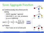score aggregate function