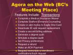 agora on the web bc s meeting place37