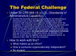 the federal challenge