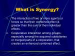 what is synergy