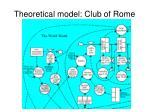 theoretical model club of rome