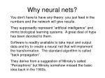 why neural nets