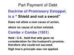 part payment of debt19