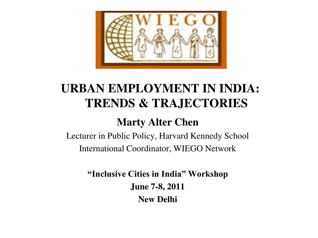 urban employment in india trends trajectories l.