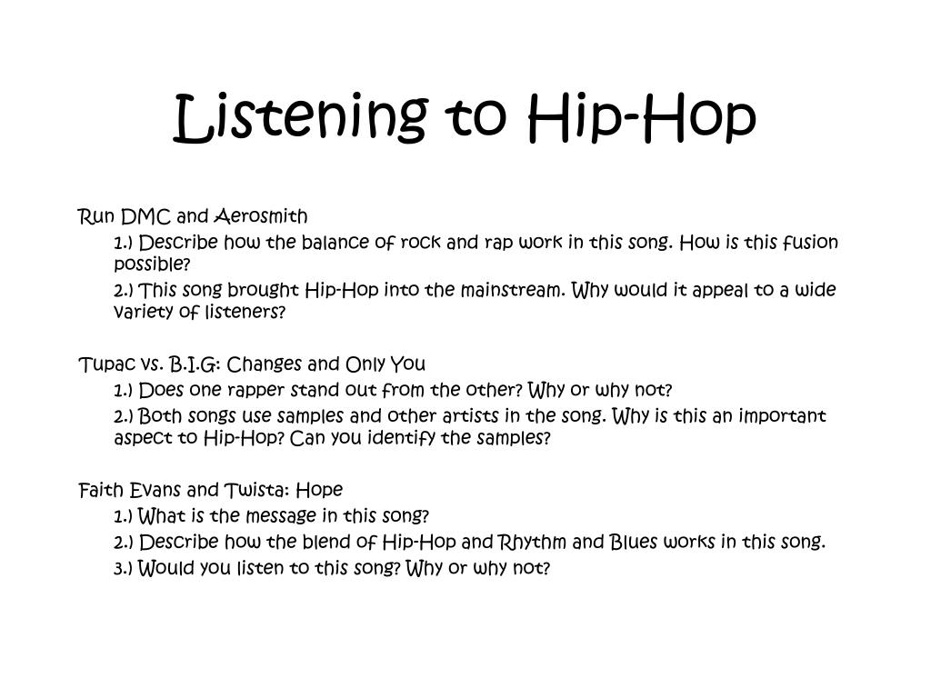 Listening to Hip-Hop