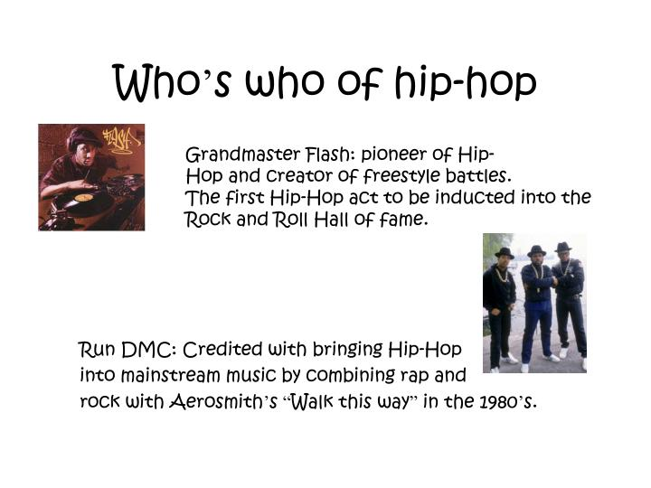 Who s who of hip hop