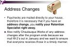 address changes