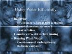 using water efficiently8