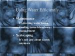 using water efficiently9