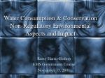 water consumption conservation non regulatory environmental aspects and impact