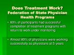 does treatment work federation of state physician health programs