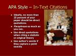 apa style in text citations