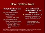more citation rules