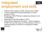 integrated employment and skills