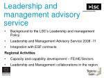 leadership and management advisory service