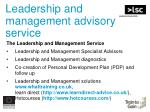 leadership and management advisory service40