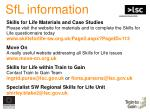 sfl information