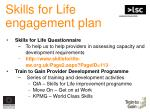 skills for life engagement plan