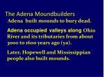 the adena moundbuilders