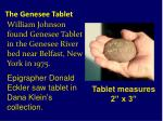 the genesee tablet