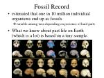 fossil record21