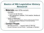 basics of wa legislative history research32