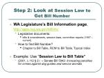 step 2 look at session law to get bill number