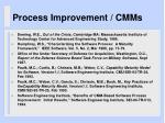process improvement cmms