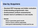 use by acquirers