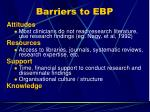barriers to ebp