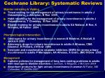 cochrane library systematic reviews