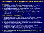 cochrane library systematic reviews22