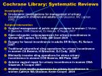 cochrane library systematic reviews23