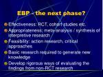 ebp the next phase