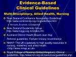 evidence based clinical guidelines