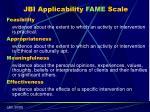 jbi applicability fame scale