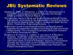 jbi systematic reviews