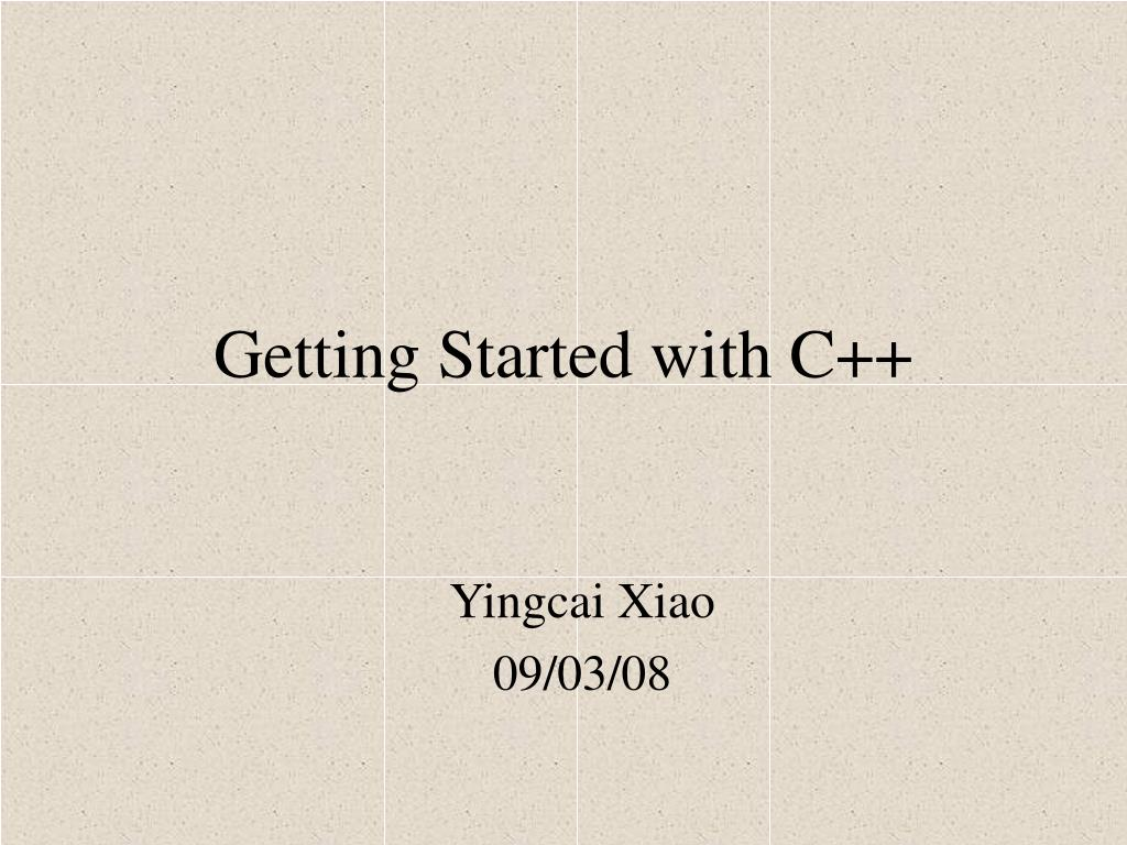 getting started with c l.
