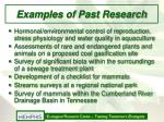 examples of past research