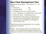 new fleet management plan