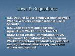 laws regulations