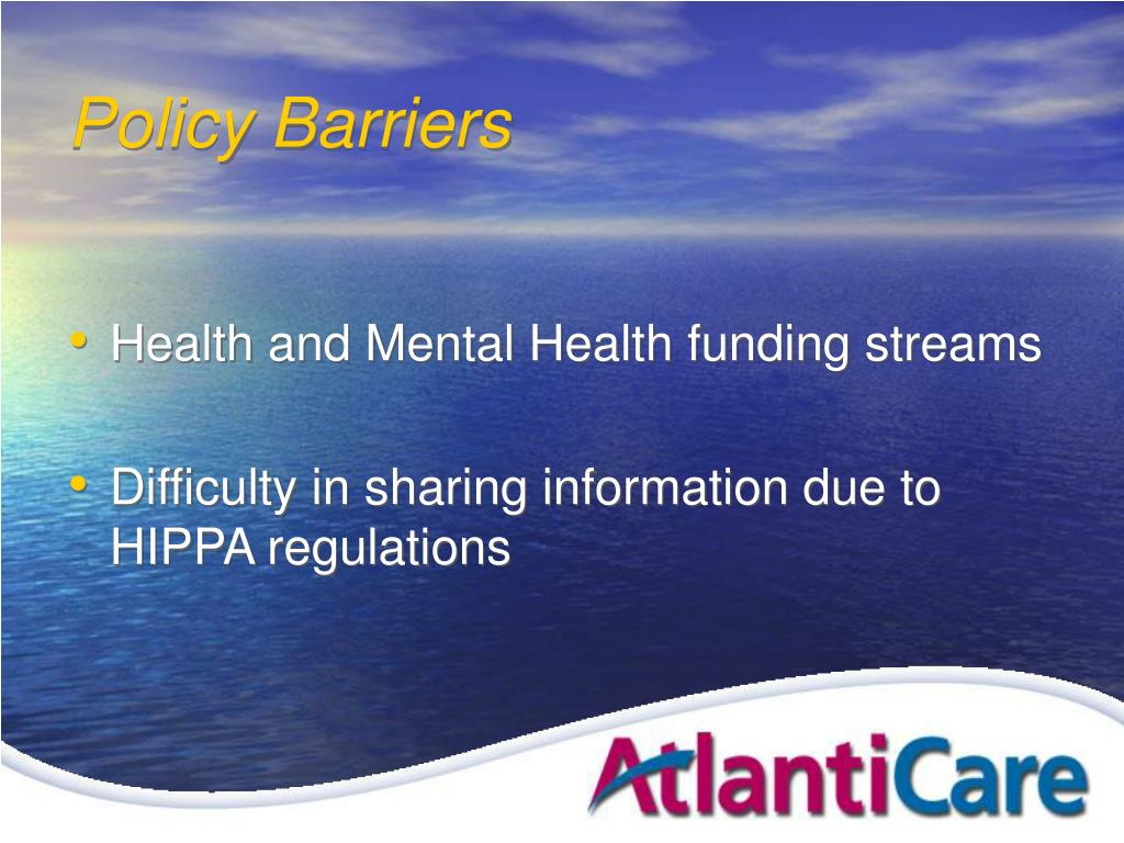 Policy Barriers