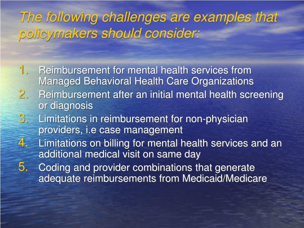The following challenges are examples that policymakers should consider: