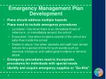 emergency management plan development9