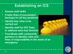 establishing an ics